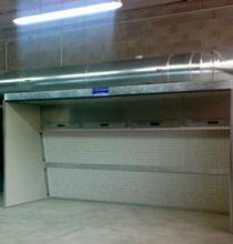 Cabina di verniciatura a secco di metri 2