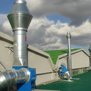 Impianti trattamento aria rumore